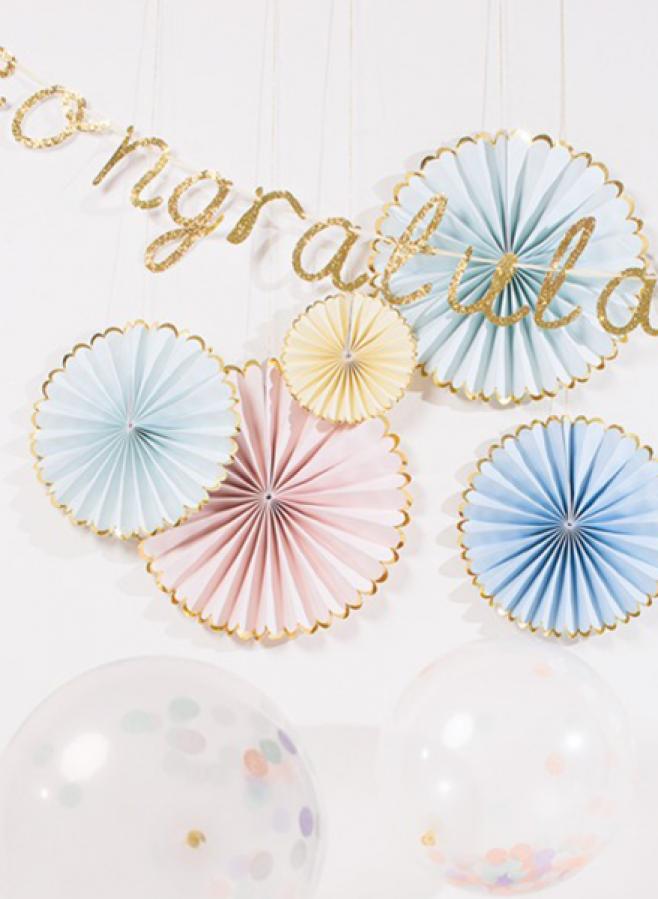 Dekoration Pastell Pinwheels 6-pack - Meri Meri