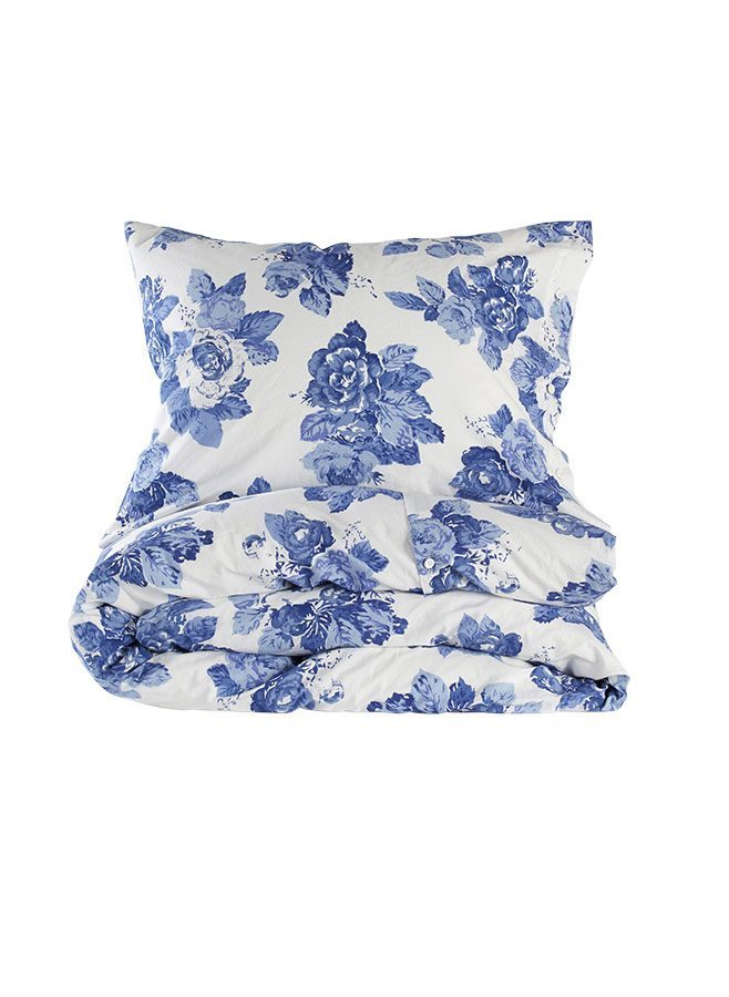 British Rose Blue påslakan från Leilas Sweet Home Collection