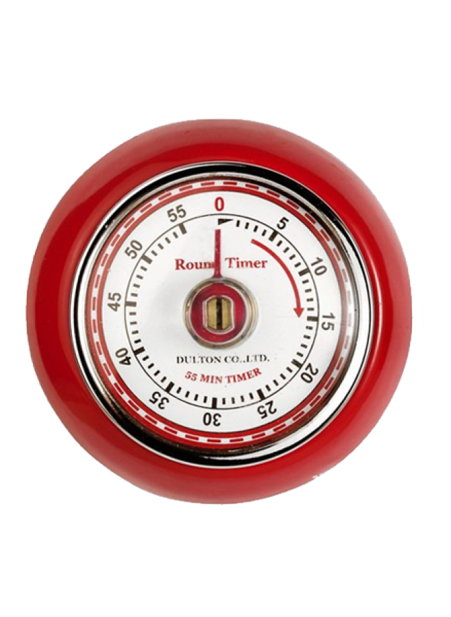 Röd Timer i Retrostil med Magnet