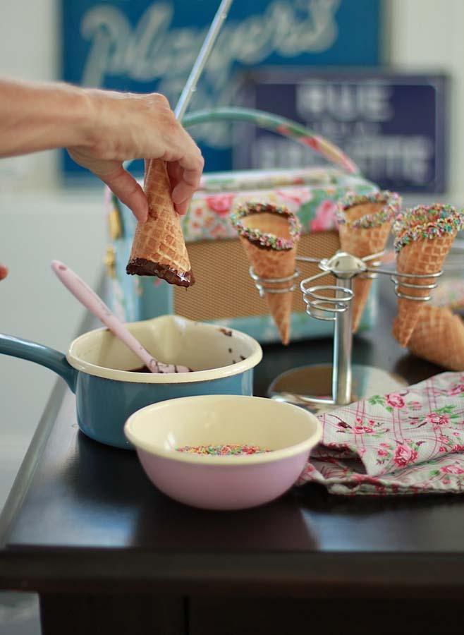 Leilas köksredskap smal rosa slickepott