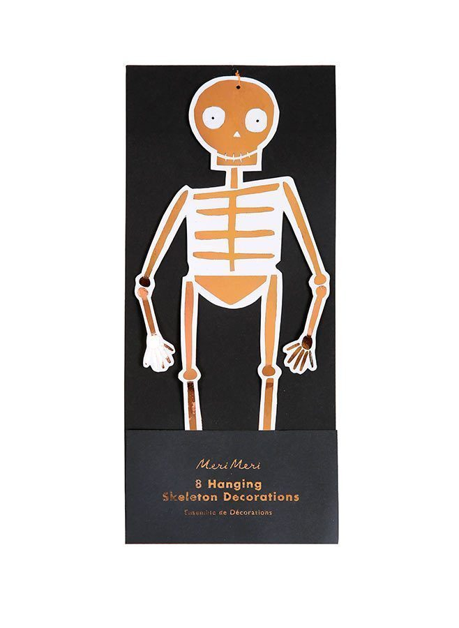 Pappersdekorationer skelett