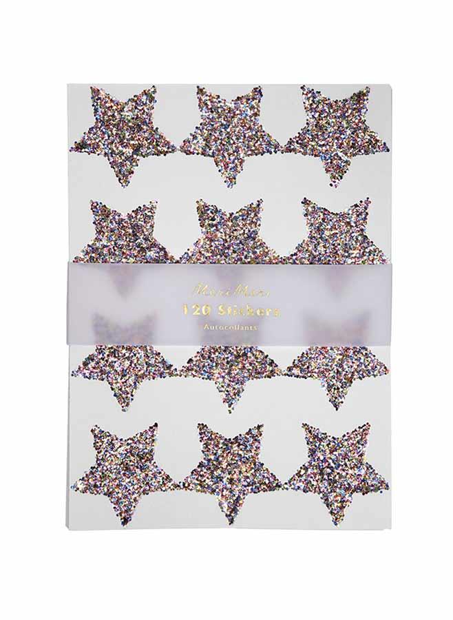 Klisteretiketter – Glitterstjärnor