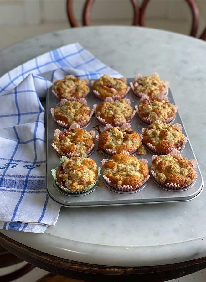 muffinsplåt äppelmuffins