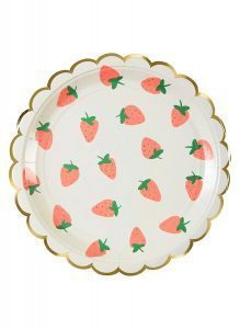 Engångstallrikar jordgubbar