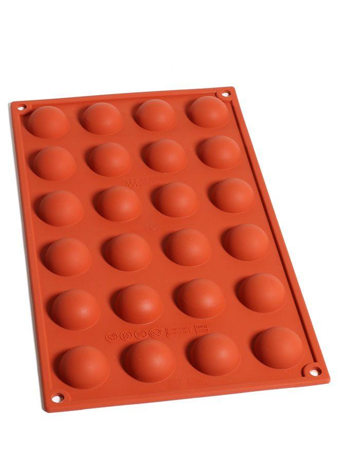 Pralinform i silikon – Semifreddo Halvcirkel