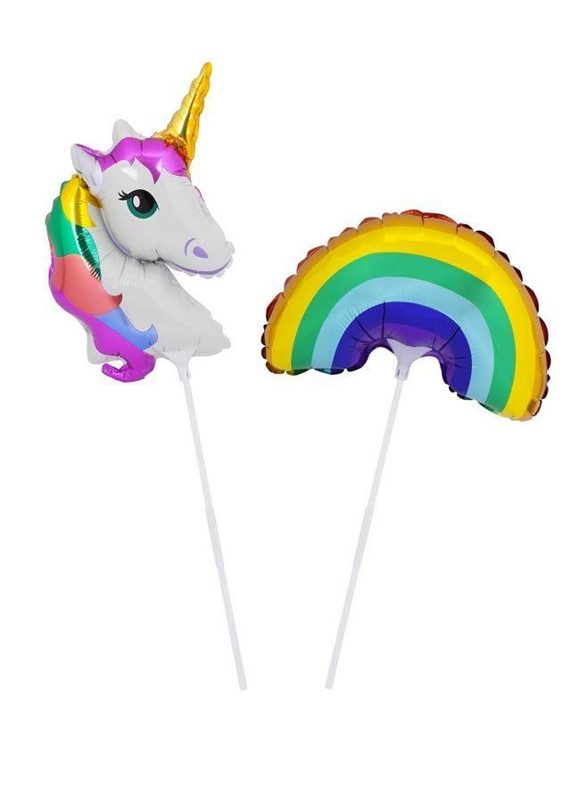 Ballonger unicorn regnbåge