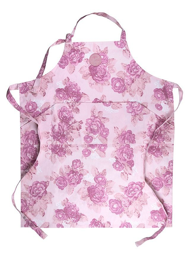Förkläde vuxen british rose summer pink