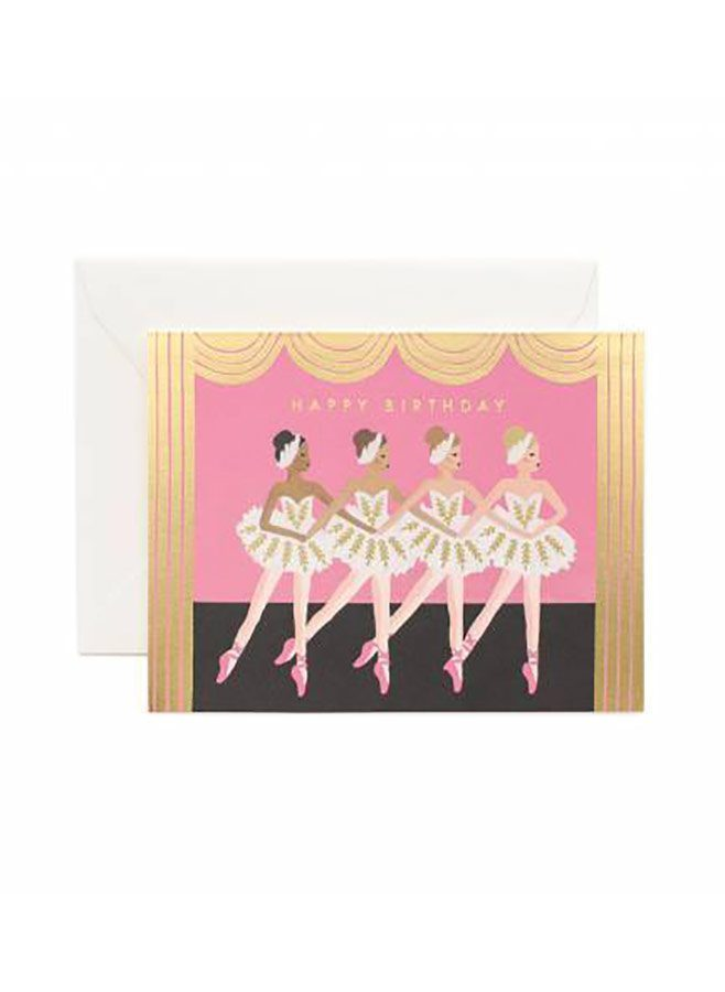 Kort – Birthday ballet card