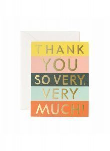 Kort – Color block thank you card