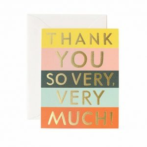 Kort – Color block thank you card – Rifle Paper Co