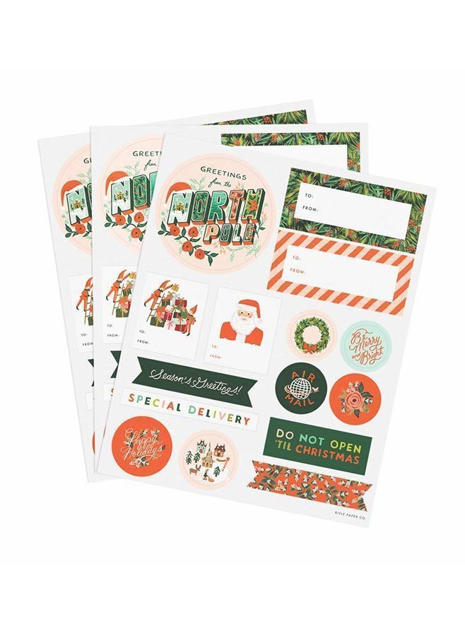 Juletiketter – Seasons Greetings