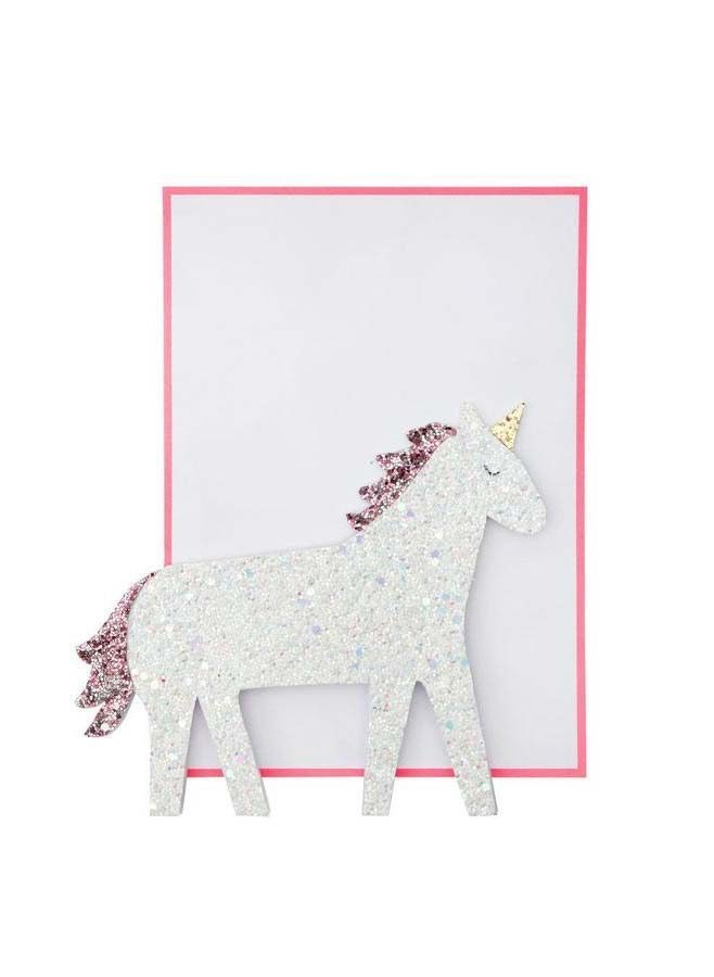 Vykort pop up unicorn - Meri Meri