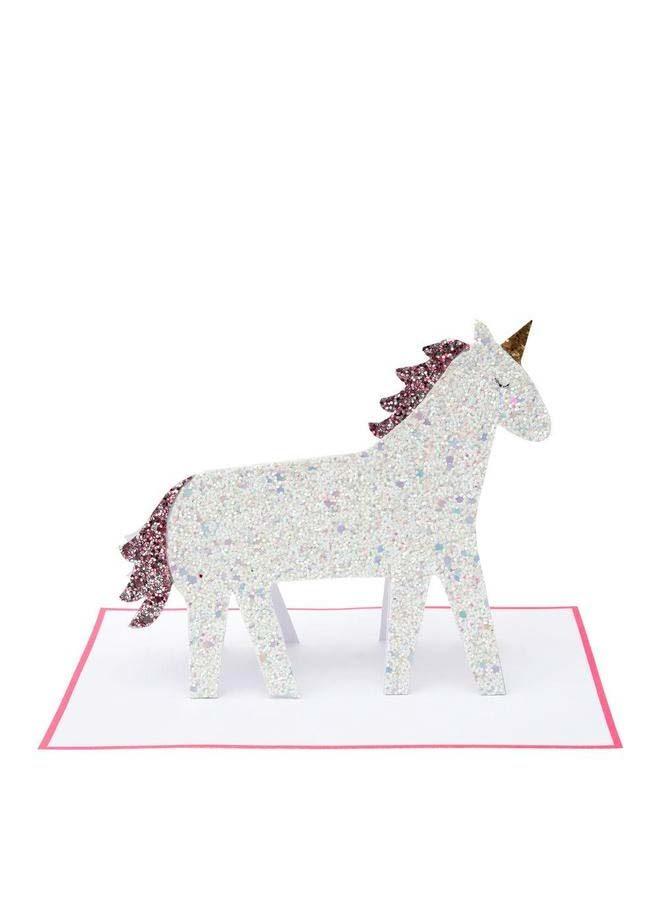 Vykort pop up unicorn - Meri Meri