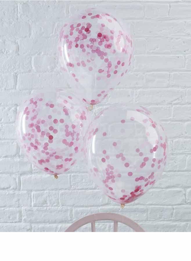 Ballonger confetti rosa