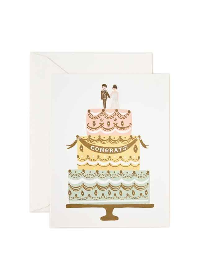 Kort Congrats Wedding Cake Rifle Paper Co