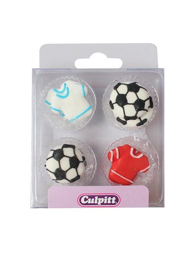 Fotboll dekoration i socker