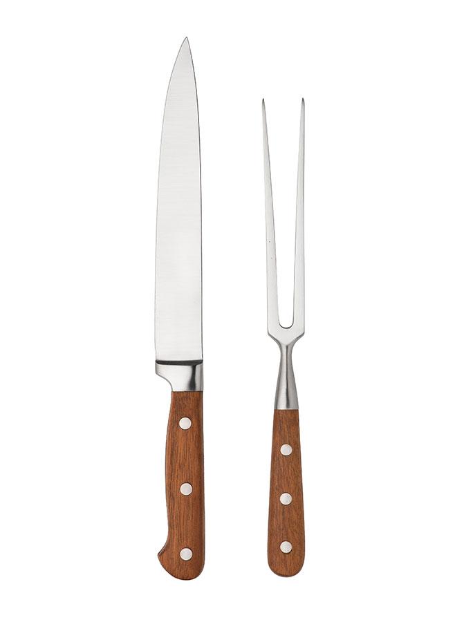 Skinkbestick – Stekkniv och stekgaffel