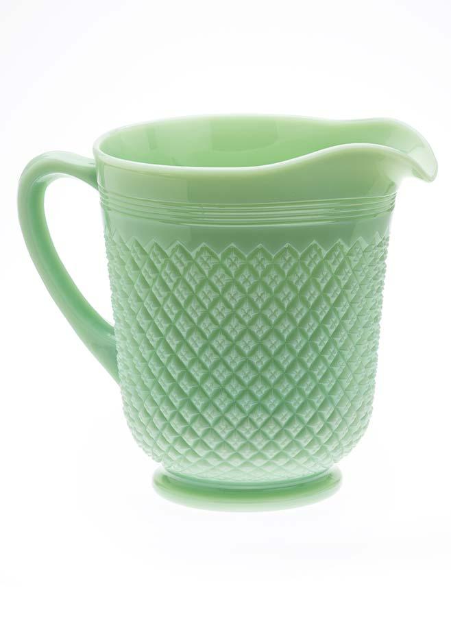 Tillbringare i grönt opalglas
