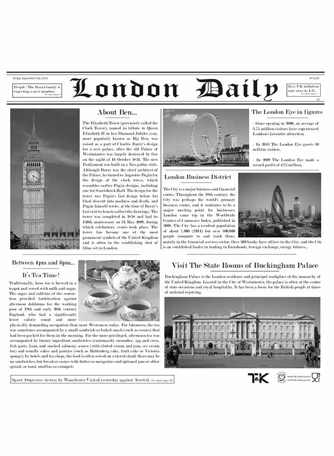 Vaxat papper Dagstidning London Daily
