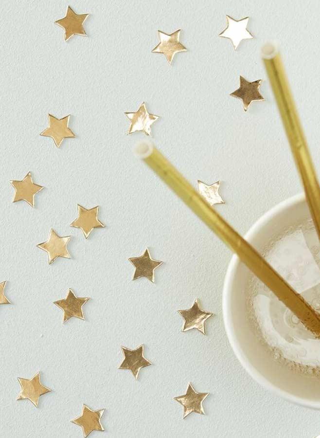 Confetti guldstjärnor
