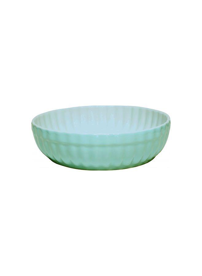 Pajform grön mini i glaserat stengods - 11 cm