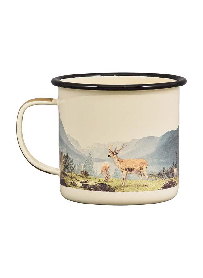 Emaljmugg med hjortar