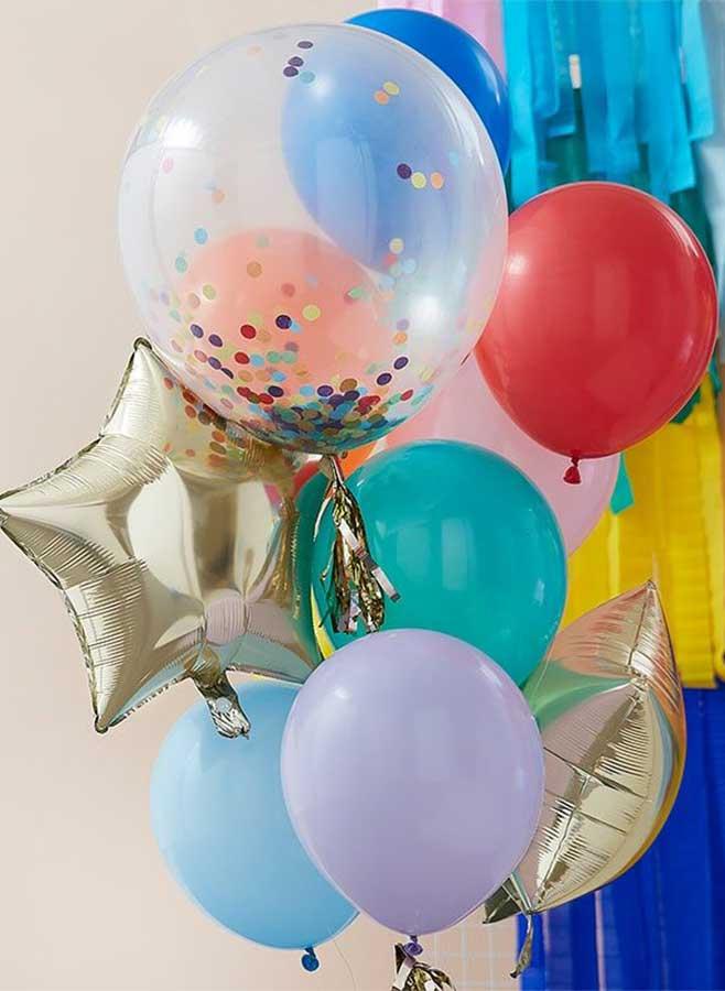 Ballonger mixade färger
